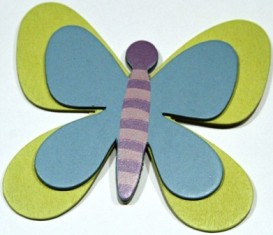 Butterfly Blue and Green-Handmade butterfly bow holder.