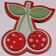 Cherries Bright-Handmade, bow holder, cherries, unique