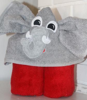 Elephant Hooded Towel-Elephant, hooded, towel, bath, champion