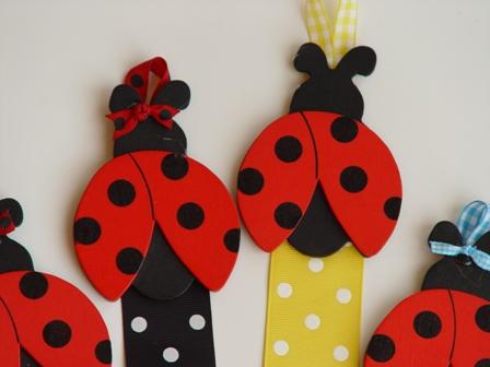 Ladybug Bow Holder-Ladybug Hairbow Holder