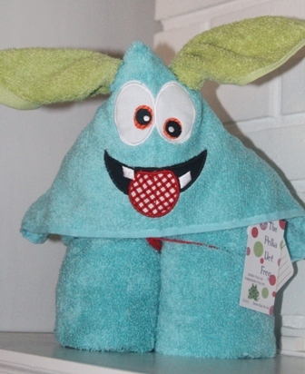 Little Monster One Hooded Towel-Little, monster, hooded, towel, ears, bath