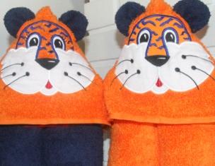 Tiger Hooded Towel-Tiger, hooded, towel, team, colors