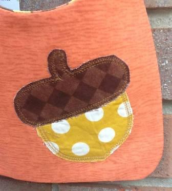 Acorn Bibs-rustic,applique,acorn,fall,baby,bib,reversible