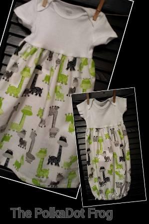 Body Suit Black and Green Giraffe Print-Baby, Body, suit, onsie,giraffe