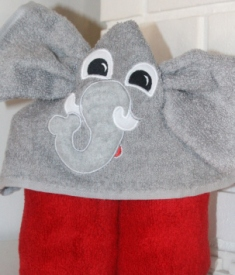 Elephant Hooded Towel-Elephant, hooded, towel, bath, champion