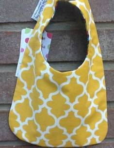 Fall Golden Print-fall,golden,yellow,holidays,bib,baby,chevron,reversible