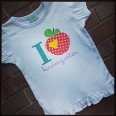 I Love School-I,Love,school,shirts,vinyl,applique