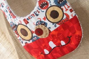 Monster Bib 2-Monster,bib,baby,drool,meal,handmade