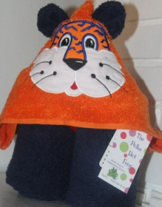 Tiger Hooded Towel-Tiger, hooded, towel, team, colors