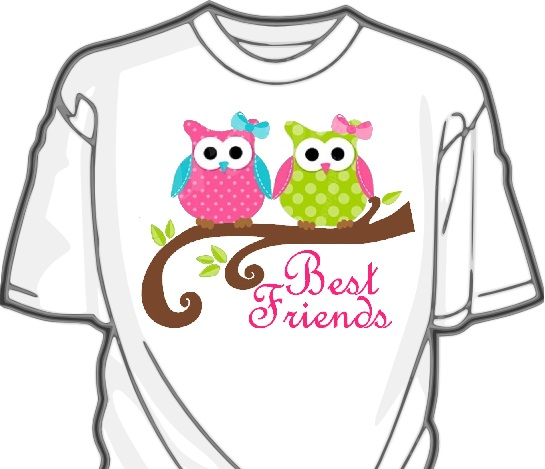 Owl Best Friends-Owl,sisters,friends,heat press,vinyl,shirt