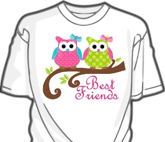 Owl Best Friends-Owl,sisters,friends,heat press,vinyl,shirt