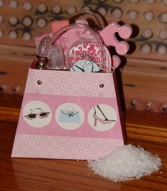 Girly Spa Gift Bag-Girly,Spa,Gift,Bag,Princess,nails,