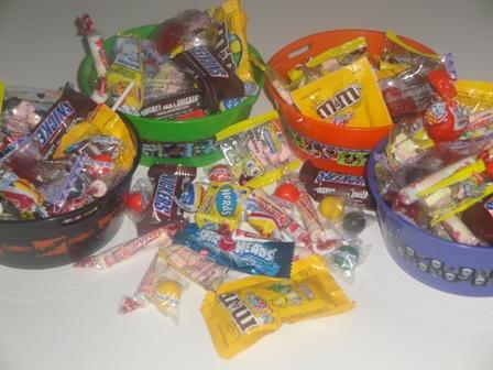 Halloween Candy Bowl-Halloween, candy, bowl, gift, friends, cousin, teacher, chocolate, custom, exotic,treats, trick or treat