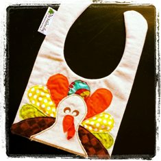 Big Fat Turkey Bib-handmade,bib,big,fat,turkey,fall,thanksgiving,vintage,frayed