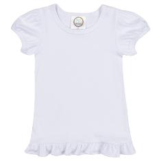 Girls Short Sleeve Ruffle T-Shirt-Blanks,Boutique,Ruffle,Sleeve,Short,TShirt,girls,applique,vinyl