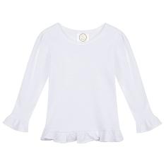 Girls Long Sleeve Ruffle T-Shirt-Blanks,Boutique,Ruffle,Sleeve,Short,TShirt,girls,applique,vinyl